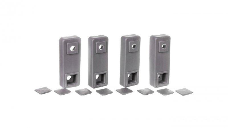 Uchwyty do mocowania obudów poliestrowych na ścianie RAL7046 FL863Z /zestaw 4szt./