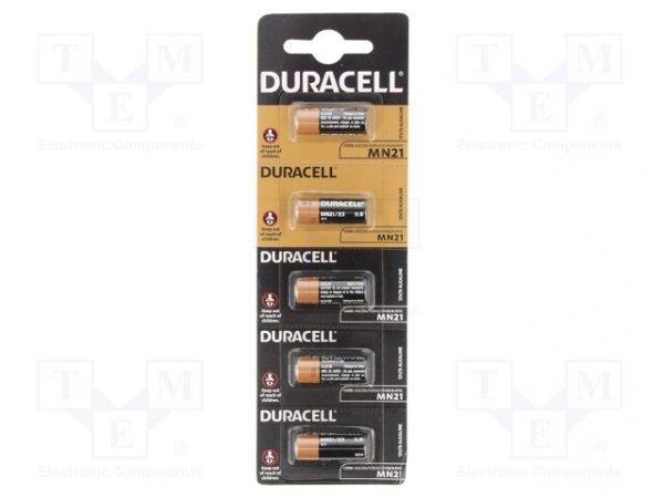Bateria: alkaliczna; 12V; 23A,8LR932,A23; Il.bat: 5; Ø10x29mm