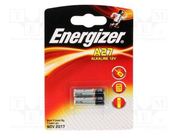 Bateria: alkaliczna; 12V; 27A,8LR50,MN27; Il.bat: 2; Ø8x28mm
