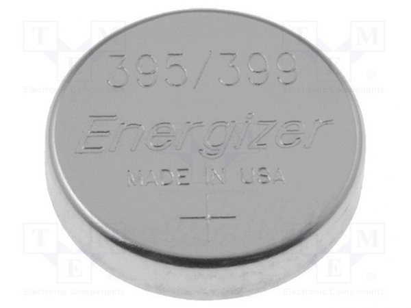 Bateria: srebrowa; 1,55V; 395,pastylkowa; Ø9,5x2,7mm; 54mAh