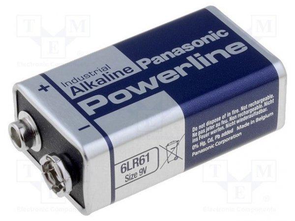 Bateria: alkaliczna; 9V; 6F22; nieładowalna