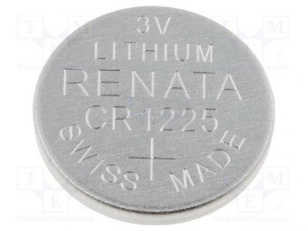 Bateria: litowa; 3V; CR1225,pastylkowa; Ø12x2,5mm; 48mAh