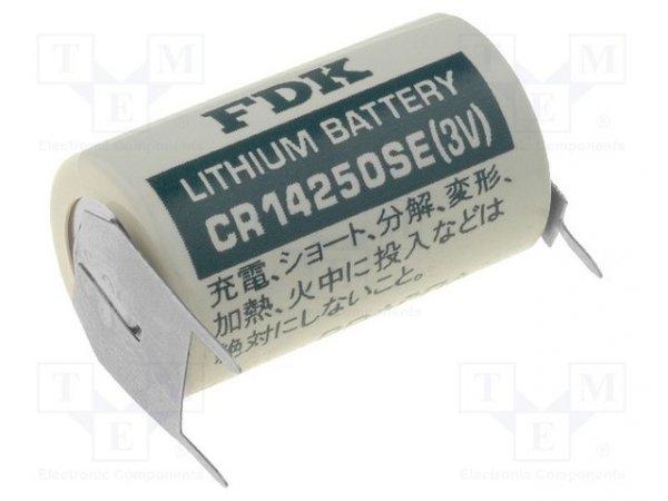 Bateria: litowa; 3V; 1/2AA,1/2R6,CR14250; 850mAh; nieładowalna