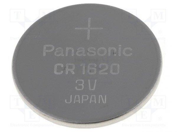 Bateria: litowa; 3V; CR1620,pastylkowa; Ø16x2mm; 70mAh