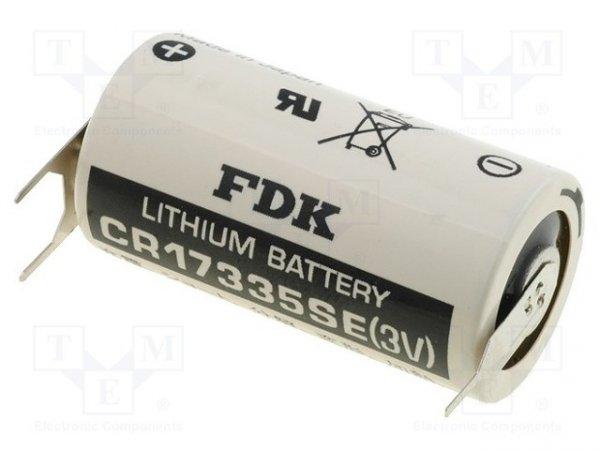 Bateria: litowa; 3V; 2/3A,2/3R23,CR17335; Ø17x33,5mm; 1800mAh