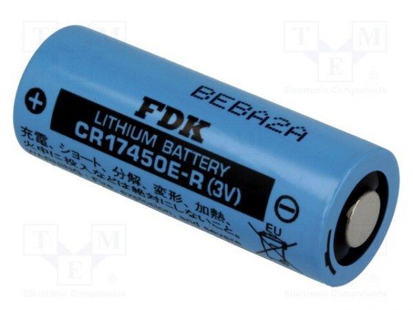 Bateria: litowa; 3V; 4/5A,CR8L; Ø17x45mm; 2400mAh; nieładowalna