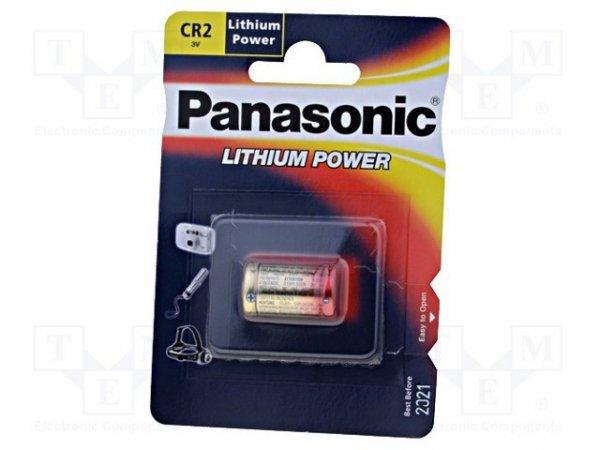 Bateria: litowa; 3V; CR2; 850mAh; nieładowalna