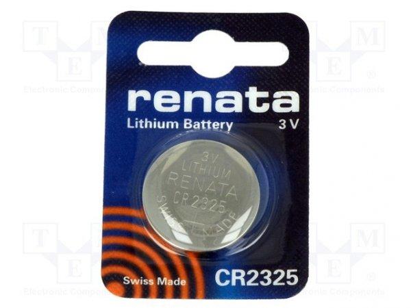 Bateria: litowa; 3V; CR2325,pastylkowa; Il.bat: 1; Ø23x2,5mm
