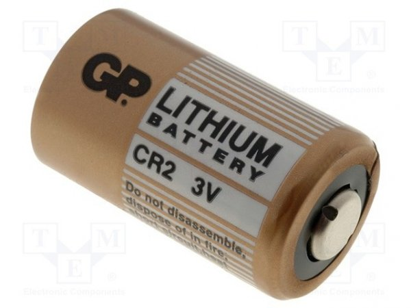 Bateria: litowa; 3V; CR2; Ø16x27mm; nieładowalna