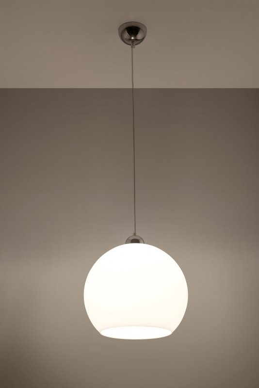 Lampa Wisząca BALL Biała