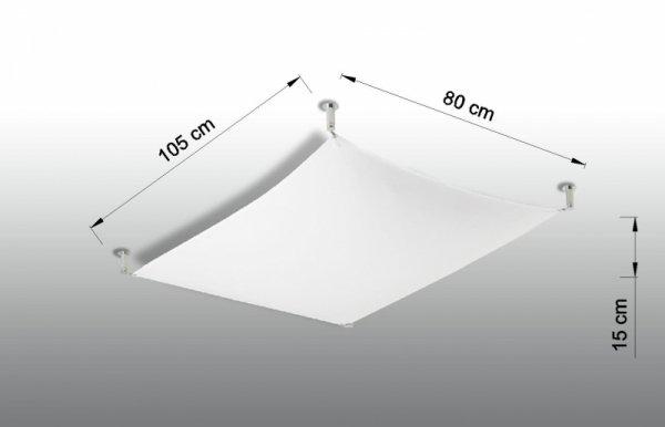 Plafon LUNA 1 biały