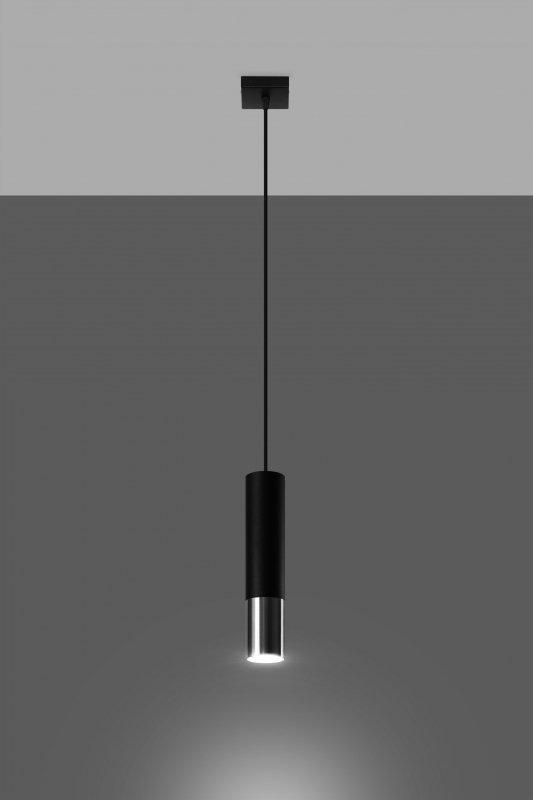 Lampa wisząca LOOPEZ 1 czarny/chrom
