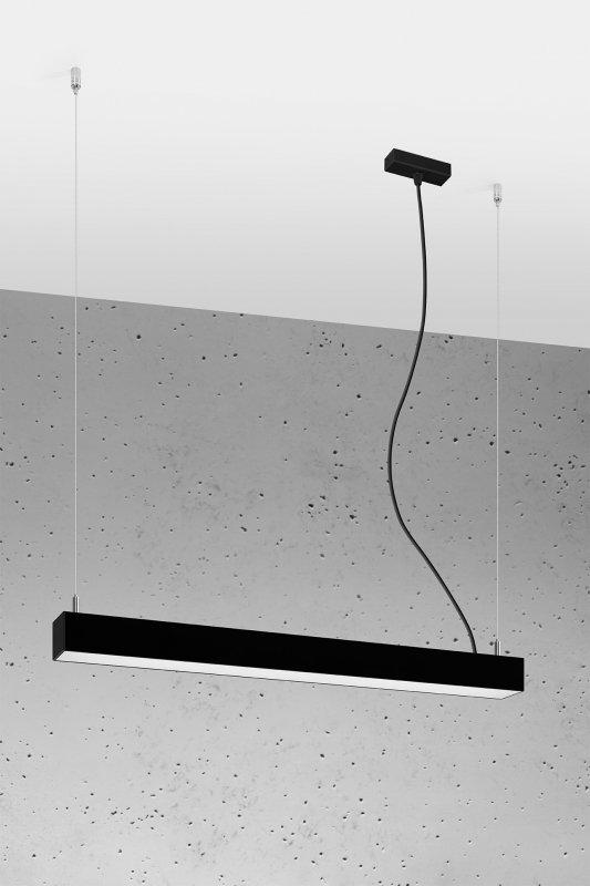 Lampa wisząca PINNE 650 CZARNA, 4000K, 22W