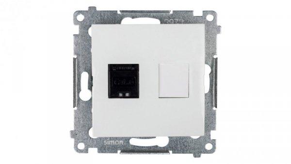 Simon 54 Gniazdo komputerowe pojedyncze RJ45 kat.6 z przesłoną białe D61.01/11