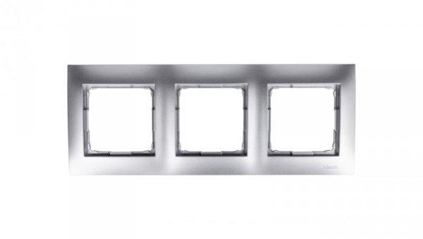Simon 54 Premium Ramka potrójna srebrny mat DR3/43
