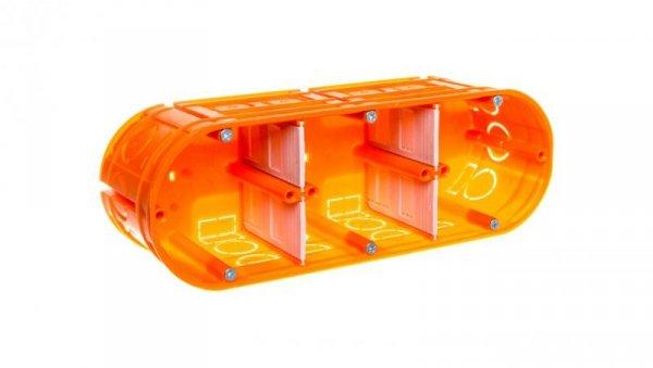 Puszka podtynkowa potrójna 60mm pomarańczowa M3x60F 33167008