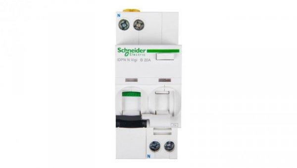 Wyłącznik różnicowo-nadprądowy 2P 20A B 0,03A typ AC iDPN N VIGI A9D55620