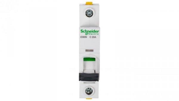 Wyłącznik nadprądowy 1P C 20A 6kA AC iC60N-C20 A9F04120
