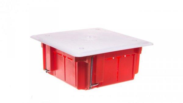 Puszka p/t n/t 105mm 105x 50mm tworzywo IP54 czerwony 0262-00