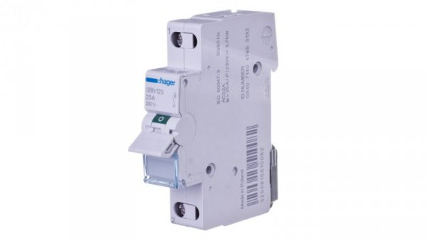 Rozłącznik modułowy 25A 1P SBN125