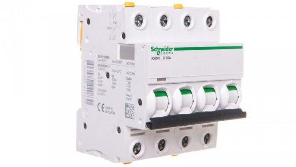 Wyłącznik nadprądowy 4P C 25A 6kA AC iC60N-C25-4 A9F04425