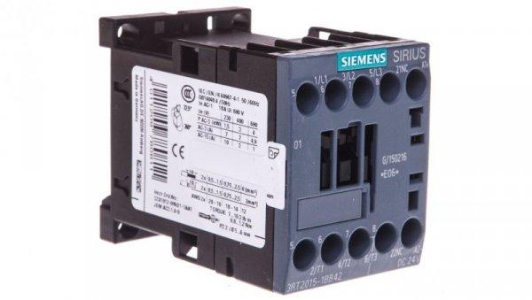 Stycznik mocy 7A 3P 24V DC 0Z 1R S00 3RT2015-1BB42