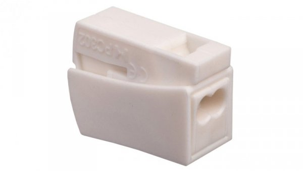 Szybkozłączka 2x0,5-2,5mm2 biały PC302-CL 89007006 /100szt./