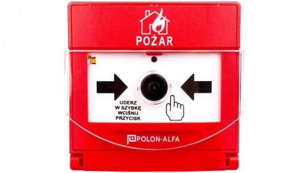 Ostrzegacz pożarowy reczny adresowalny, wtynkowy ROP-4001MH
