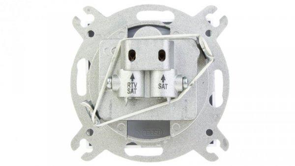AS Gniazdo antenowe RTV-SAT-SAT białe GPA-G2S/m/00