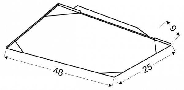 ASTON PLAFON 25X48 2X60W E27
