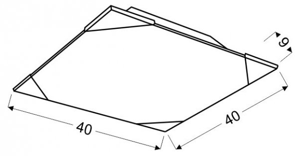 ASTON PLAFON 40X40 3X60W E27