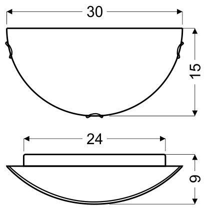 ITAKA PLAFON 1/2  1X60W E27 BIAŁY