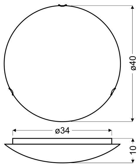 DOKA PLAFON 40 2X60W E27