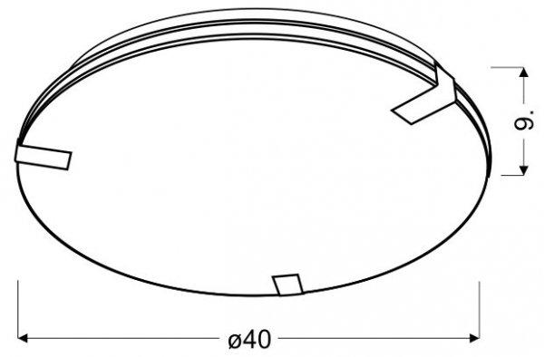 NOBLE PLAFON 40 3X50W E27