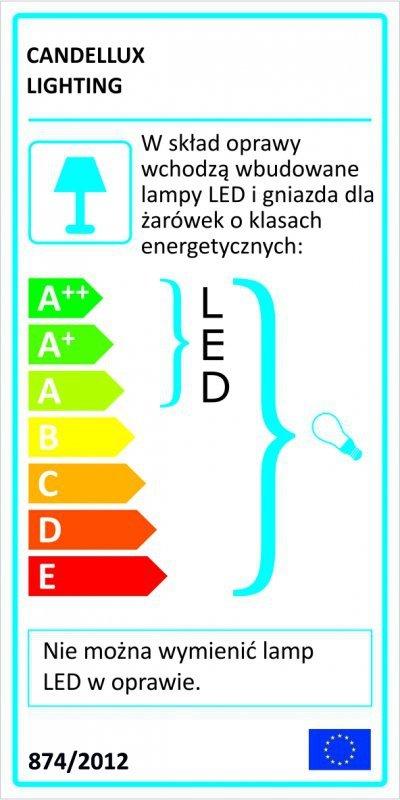 SYLWANA KINKIET 1X40W E14 + LED Z WYŁĄCZNIKIEM CHROM / FIOLETOWY