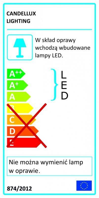 ACRYLIC LED KINKIET 2X2W LED CHROM BIAŁY