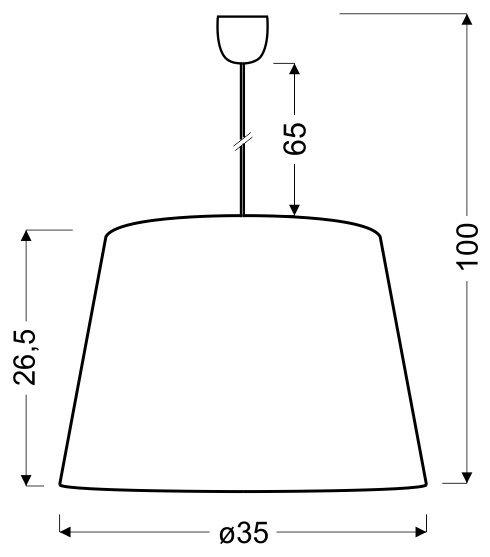 PLATINO 3 35 CM 1X60W E27 SREBRNY