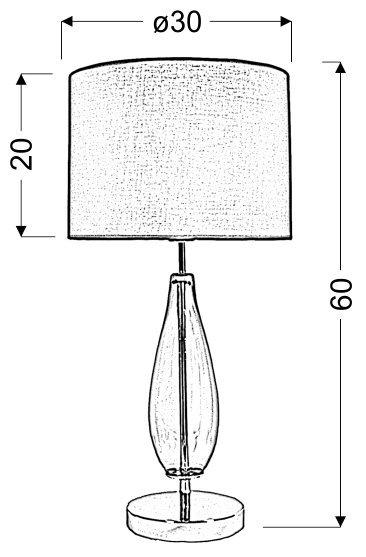 MARRONE LAMPKA GABINETOWA 1X60W E27 H-57 BRĄZOWA