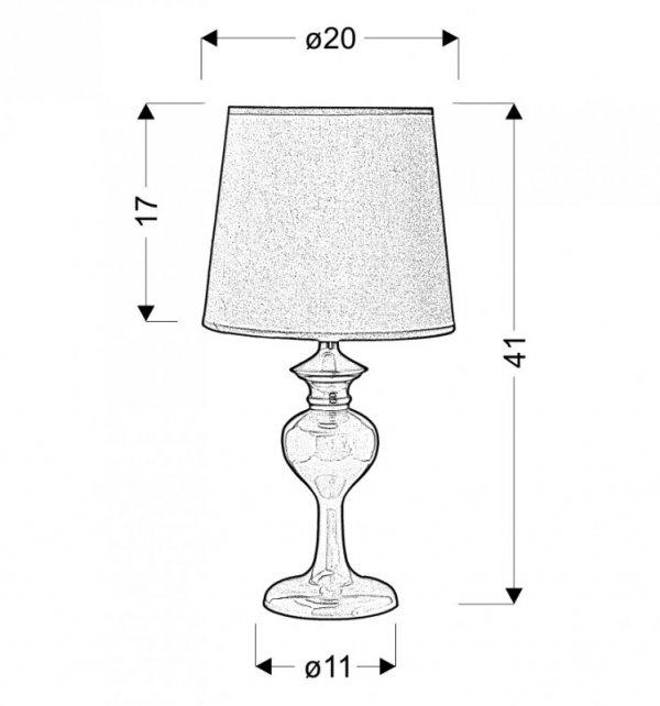 BERKANE LAMPKA 1X40W E14 FIOLETOWY