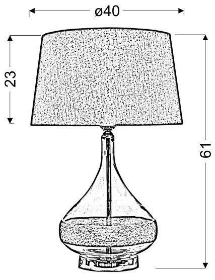 ECO 2 STOŻEK LAMPKA GABINETOWA 40X62 1X60W E27