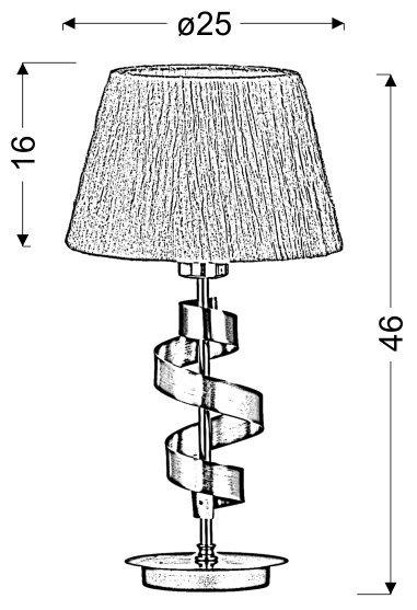 DENIS LAMPKA GABINETOWA 1X60W E27 CHROM