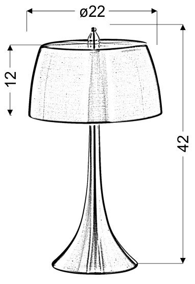 OXFORD LAMPKA GABINETOWA 2X40W E14 FIOLETOWY / DOTYKOWA/
