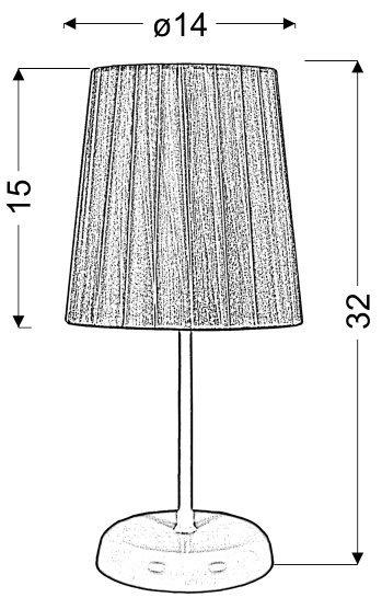 RIFASA LAMPKA GABINETOWA 1X40W E14 CZERWONA