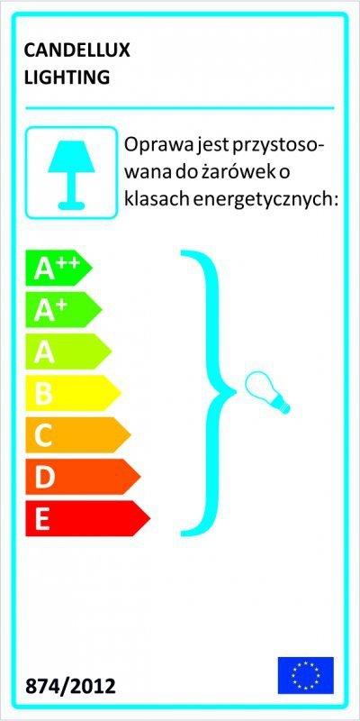 WRING LAMPKA GABINETOWA 1X60W E27 CHROM TARANSPARENT / BIAŁY
