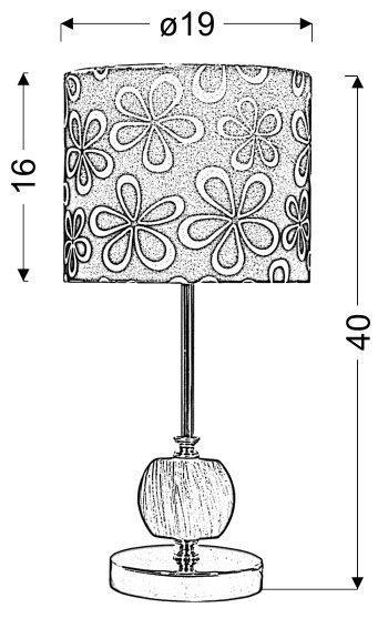CORT LAMPKA GABINETOWA 1X60W E27 ZIELONY