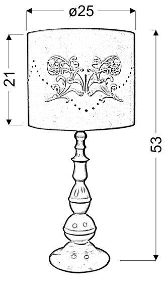 LANS LAMPKA 1X60W E27 BIAŁA