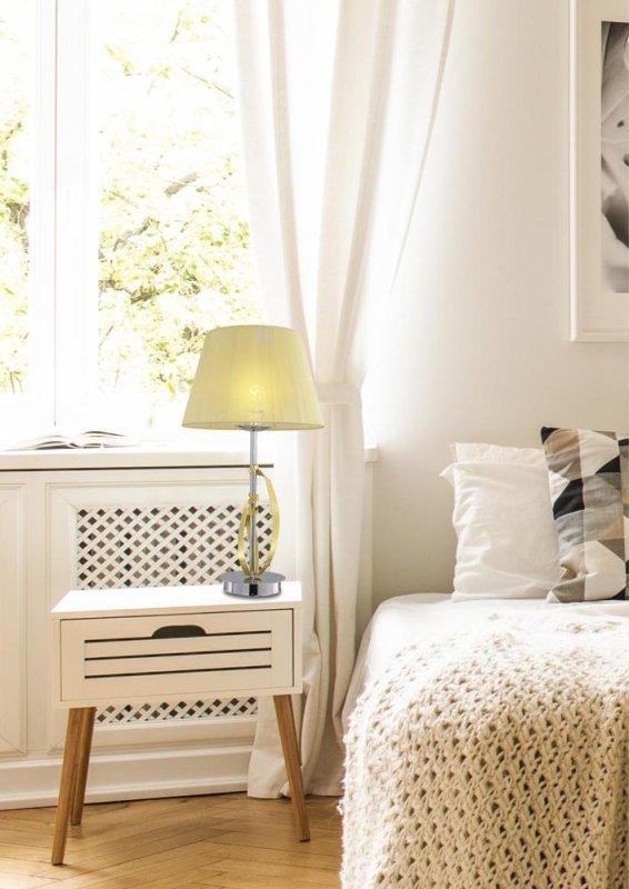 DIVA LAMPKA GABINETOWA 1X60W E27 CHROM/ZŁOTY