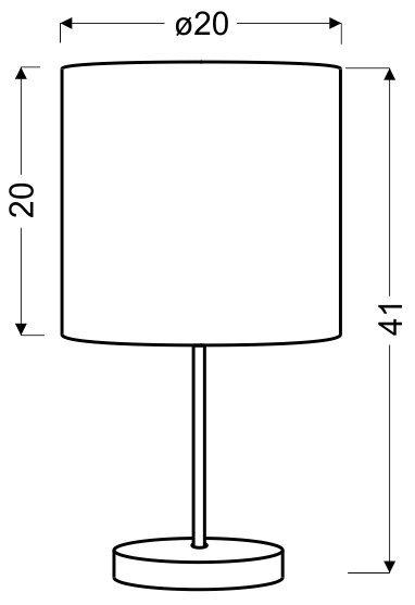 TIMBER LAMPKA GABINETOWA 1X60W E27 DĄB