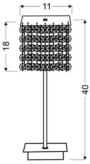 CLASSIC LAMPKA GABINETOWA 1X40W G9 FIOLETOWA