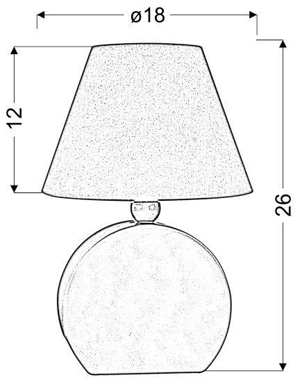 OFELIA LAMPKA GAB. MDF 1X40W E14 ŻÓŁTA